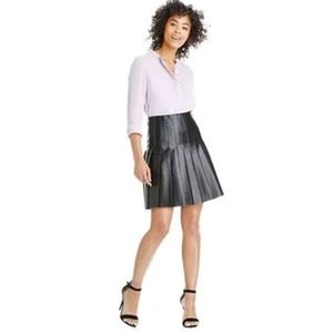 Joe Fresh Faux Leather Pleated Skirt
